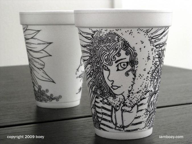Top Styrofoam Cup Sharpie Art | Epheriell Designs CI06