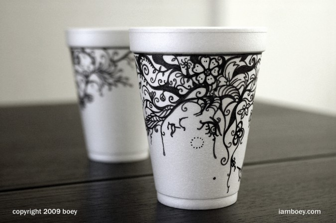 Fresh Styrofoam Cup Sharpie Art | Epheriell Designs ES06